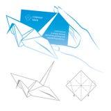Origami συμβολικό Στοκ Εικόνες