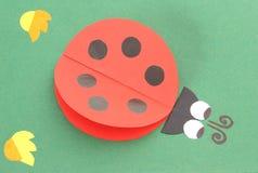 Origami бумаги ladybug рециркулированной формой Стоковая Фотография