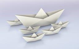Origami, бумажные шлюпки бесплатная иллюстрация