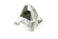 Origami корзины сделанное долларов Стоковое Изображение RF