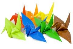 origami птицы стоковое изображение