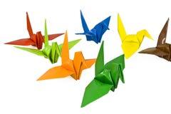 origami птицы стоковая фотография
