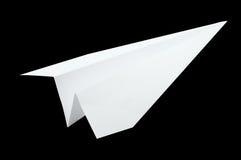 Origami самолета, складывая бумага в форме самолета Стоковые Изображения RF