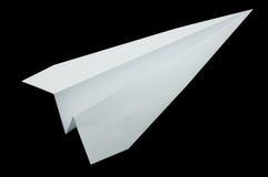 Origami самолета, складывая бумага в форме самолета Стоковые Фото
