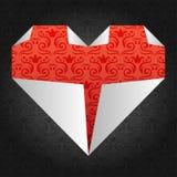 origami сердца Иллюстрация вектора