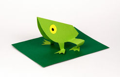Origami. A frog made with paper,origami Royalty Free Stock Photo
