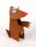 Origami. A mole made with paper,origami Royalty Free Stock Photography