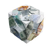 Origami. (kusudama) from monetary denominations of world currencies Stock Photo