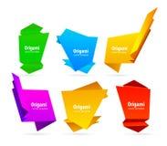 抽象origami 免版税库存图片