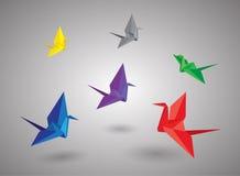 鸟origami 免版税库存照片