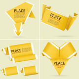 收集纸Origami横幅 免版税库存图片
