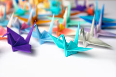 鸟origami 免版税库存图片
