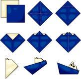 Origami船 免版税库存图片