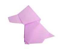 Origami狗 免版税图库摄影