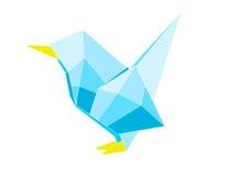 Origami鸟 库存例证