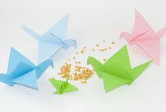 origami royaltyfri fotografi