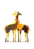 Origami纸长颈鹿剪影 免版税图库摄影