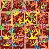 竹origami纸无缝的样式 免版税库存图片