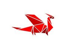 龙origami 免版税图库摄影