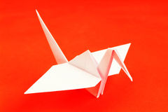 Origami. Pigeon from a paper in a kind origami Stock Image
