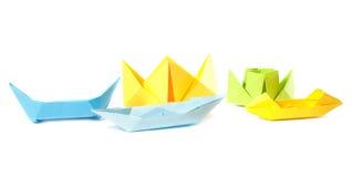 Origami Abbildung der Boote Stockfoto