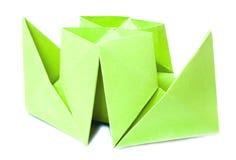 Origami Abbildung des Bootes Lizenzfreies Stockfoto