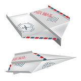 Origami_air_mail_airplanes 免版税图库摄影