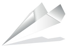 Origami airplane Stock Image