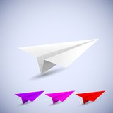 Origami airplane set. vector illustration Royalty Free Stock Image