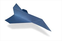 Origami airplane space shuttle Stock Photos