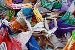 Origami alla sosta commemorativa di pace di Hiroshima fotografia stock libera da diritti