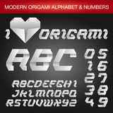 Origami Alphabet lizenzfreie abbildung