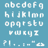 Origami Alphabet. /Lower case origami letters and signs, isolated Stock Image