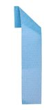 Origami of alphabet letter. Origami alphabet letter number one in light blue color Stock Image