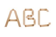 Origami Alphabet Letters Abc Stock Photos