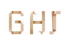 Origami Alphabet Letters Ghi Stock Photography