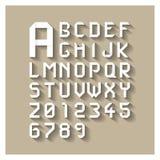 Origami alphabet Royalty Free Stock Photos
