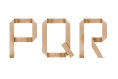 Origami Alphabet Letters Pqr Stock Photos