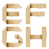 Origami Alphabetzeichen bereiteten Papierfertigkeit auf Lizenzfreie Stockfotografie