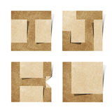 Origami Alphabetzeichen bereiteten Papierfertigkeit auf Stockbilder
