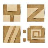 Origami Alphabetzeichen bereiteten Papierfertigkeit auf Stockbild