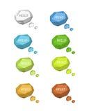 Origami anförandebubblor Vektor Illustrationer