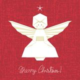 Origami Angel Background Stock Images