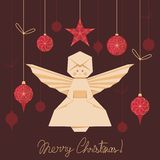 Origami Angel Background Royalty Free Stock Photography