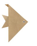 Origami angelfish. From recycled  on white background Royalty Free Stock Photos