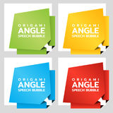 Origami angle paper banners. Price tag template for catalog. Color stickers. Vector Royalty Free Stock Image
