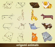 Origami animals Stock Photos