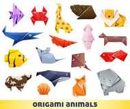 Origami animals Stock Photos