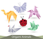 Origami animals Royalty Free Stock Images