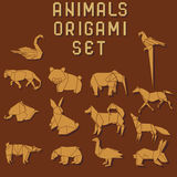 Origami animals Stock Image